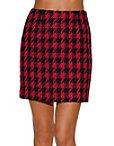 Houndstooth Tweed Mini Skirt Photo