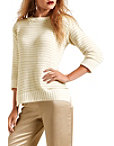 Shimmer Stripe Crew Neck Sweater Photo