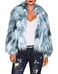 Multicolor Icy Faux Fur Jacket Photo