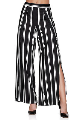 Striped flyaway pant