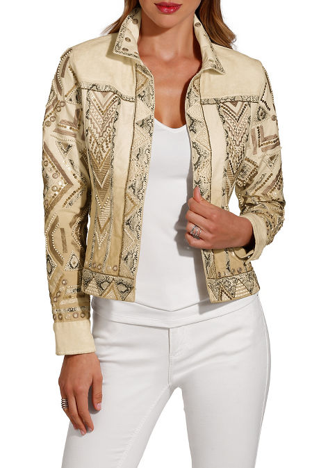 Velvet Ombré Embellished Jacket image