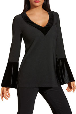 Beyond travel ™ velvet v neck top