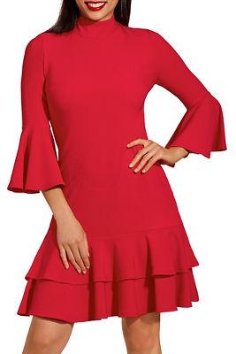 Beyond travel ™ ruffle trim dress