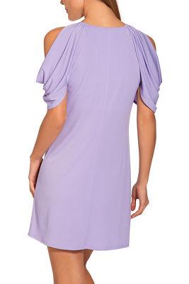 Cold shoulder scoop-neck dress