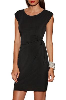 Side tie short sleeve dress