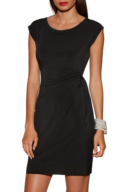 Side tie short sleeve dress image