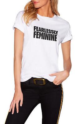 fearlessly feminine graphic tee