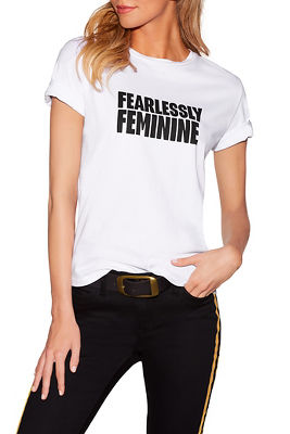 Fearlessly feminine graphic tee