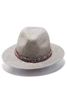 Beaded trim hat