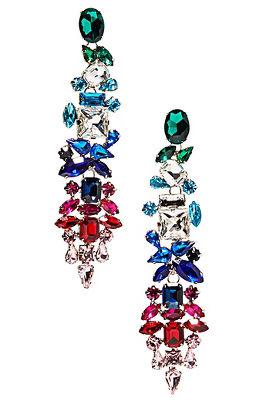Ombre rainbow earrings