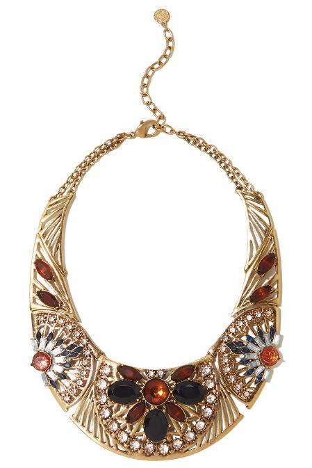 Jewel stone bib necklace image
