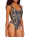 Reversible Animal High Leg One Piece Swimsuit Photo