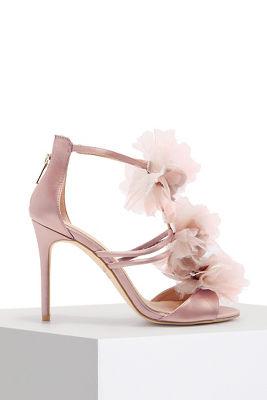 3D floral strappy heel