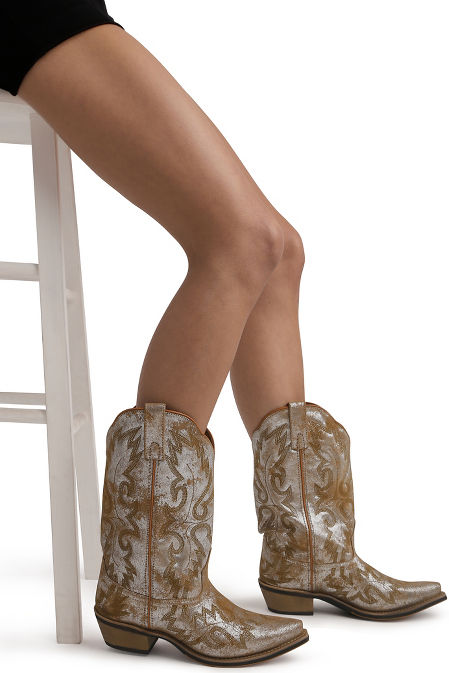 Metallic cowboy boot image