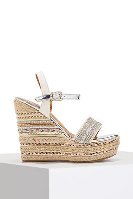 pattern espadrille wedge heel