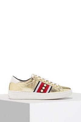 Racer stripe pearl sneaker