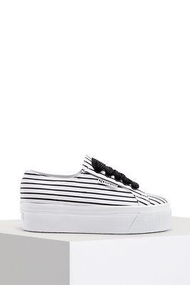 striped platform sneaker