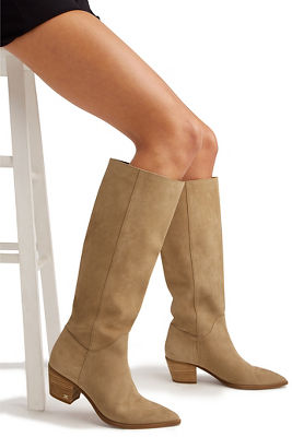 Western tall suede boot