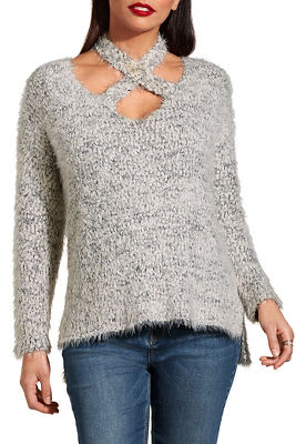 Crisscross cozy sweater