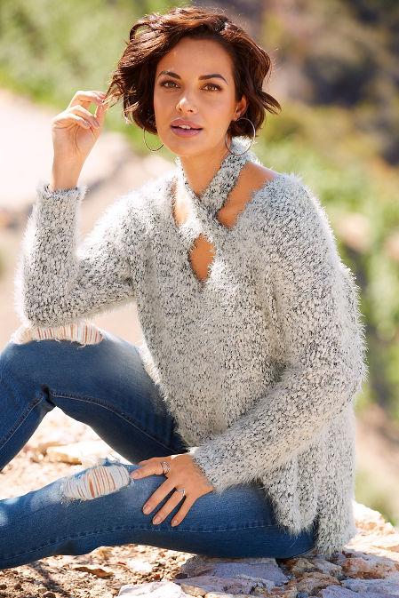 Crisscross cozy sweater image