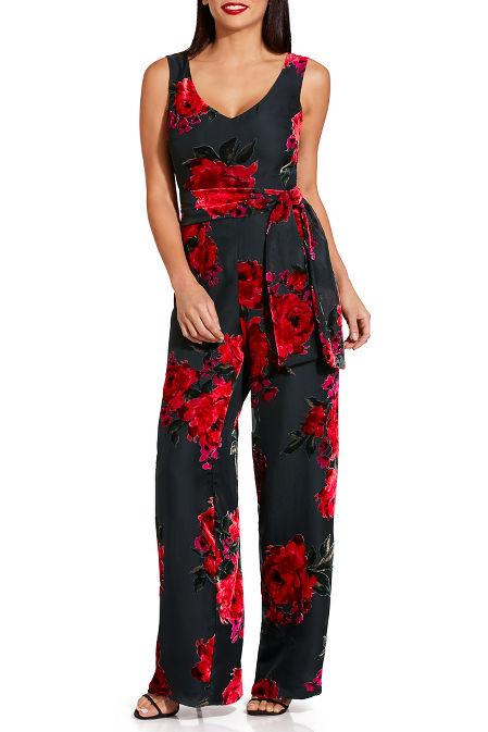 Floral burnout jumpsuit image