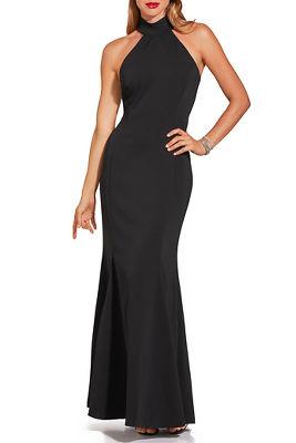 High neck sleeveless gown
