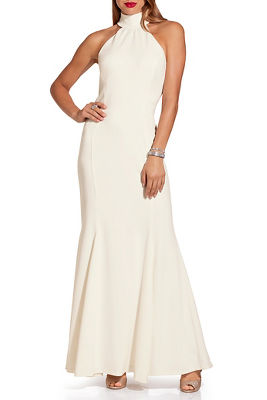 High neck sleeveless gown