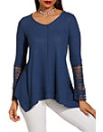 Lace Detail V Neck Thermal Top Photo