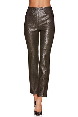 Metallic shine ankle pant