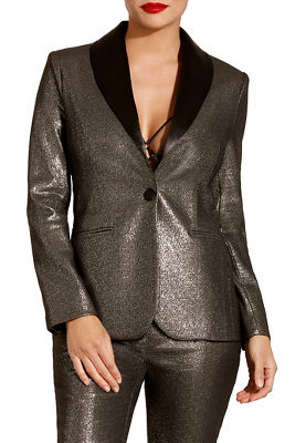 Metallic shine blazer
