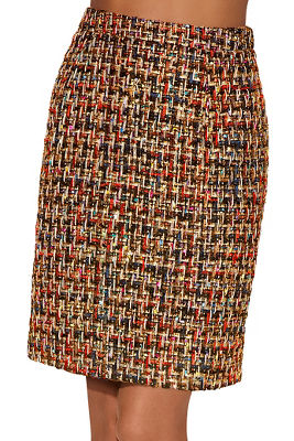 Multicolor tweed mini skirt