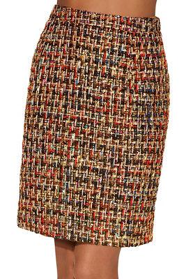 multicolor tweed mini skirt