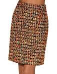 Multicolor Tweed Mini Skirt Photo