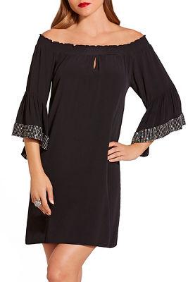 Off the shoulder rhinestone dress