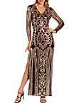 Sequin Illusion Maxi Dress Photo