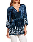 Velvet Embellished Tunic Photo