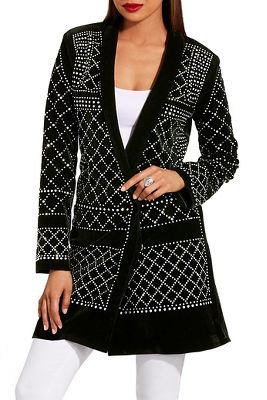 Velvet studded blazer