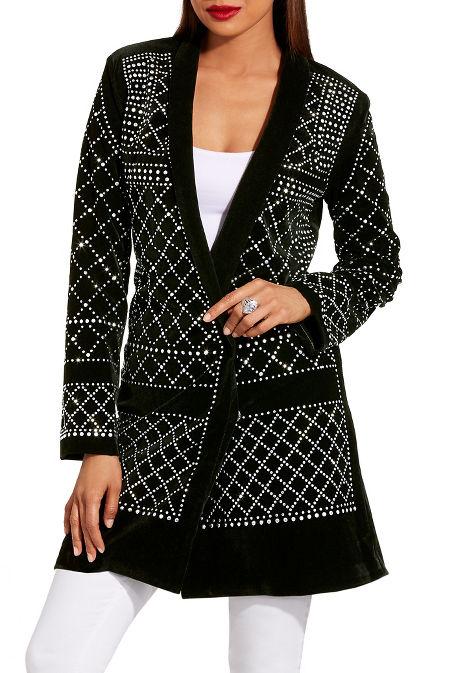 Velvet studded blazer image