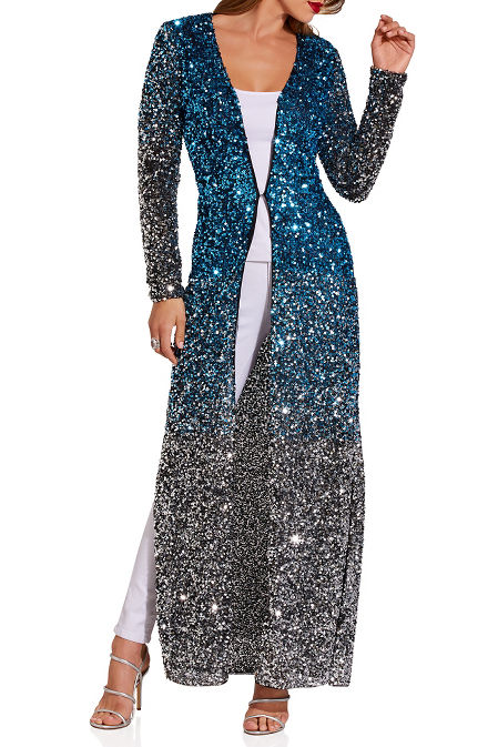 Sequin long duster image