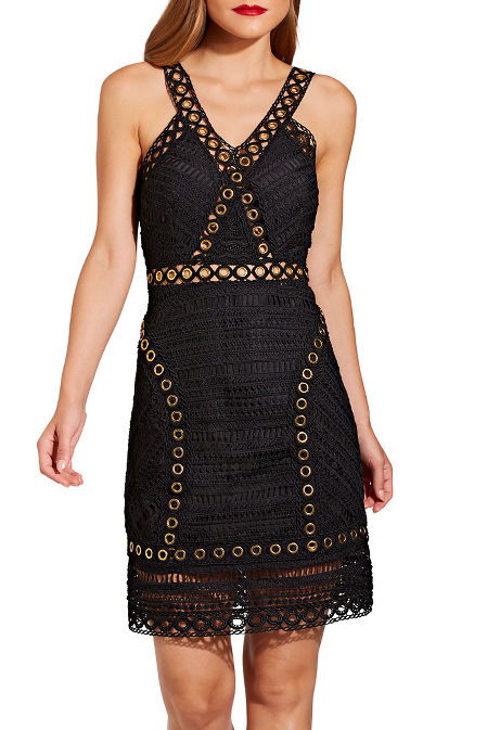 Grommet and lace dress image