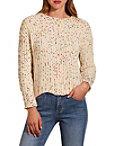 Multi Chenille Scalloped Hem Sweater Photo