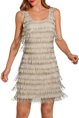 Ombré beaded fringe dress
