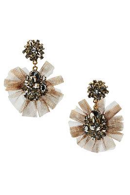 Tulle flutter earrings