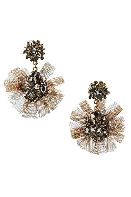 Tulle flutter earrings image