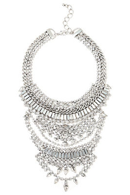 Crystal bib statement necklace