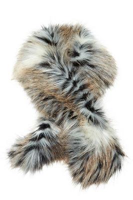 Faux fur clip scarf