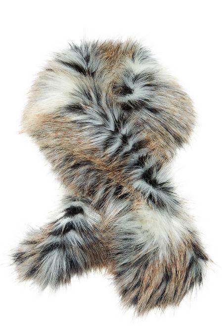 Faux fur clip scarf image
