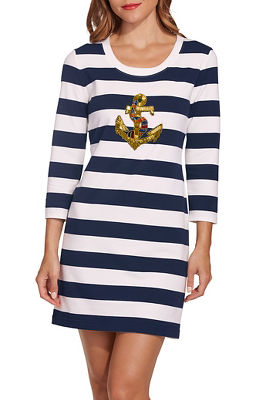 Anchor appliqué dress