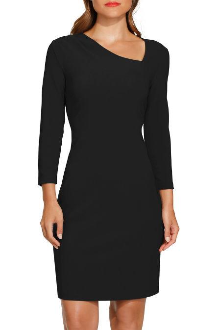 Beyond travel™ asymmetric neck dress image