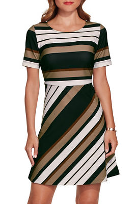 Beyond travel™ neo stripe dress